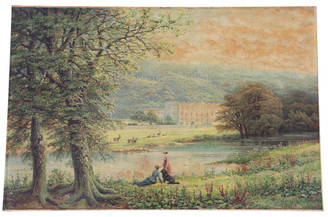 Quality large antique oil painting Robert Finlay McIntyre c.1846–1906 Chatsworth House