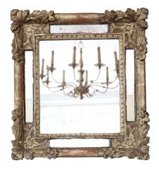 Antique quality gilt overmantle or wall mirror early 19th Century