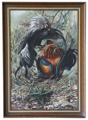 Large framed acrylic on board original painting by Ken Turner C1980s