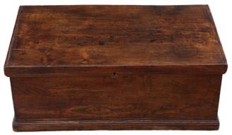 Antique Georgian 18th Century small elm coffer or box
