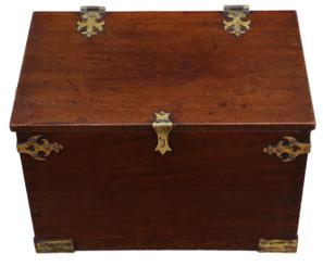 Antique Gothic revival 19th Century mahogany despatch box Pugin