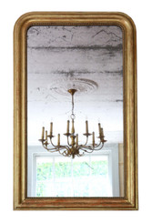 Antique 19th Century large quality gilt overmantle or wall mirror