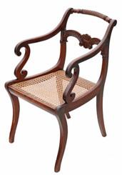 Antique fine quality Regency elbow, carver or desk chair C1825