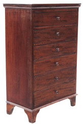 Antique small Victorian mahogany collector's chest of drawers cabinet