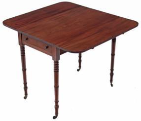 Antique Georgian mahogany 19C Pembroke supper tea side sofa table