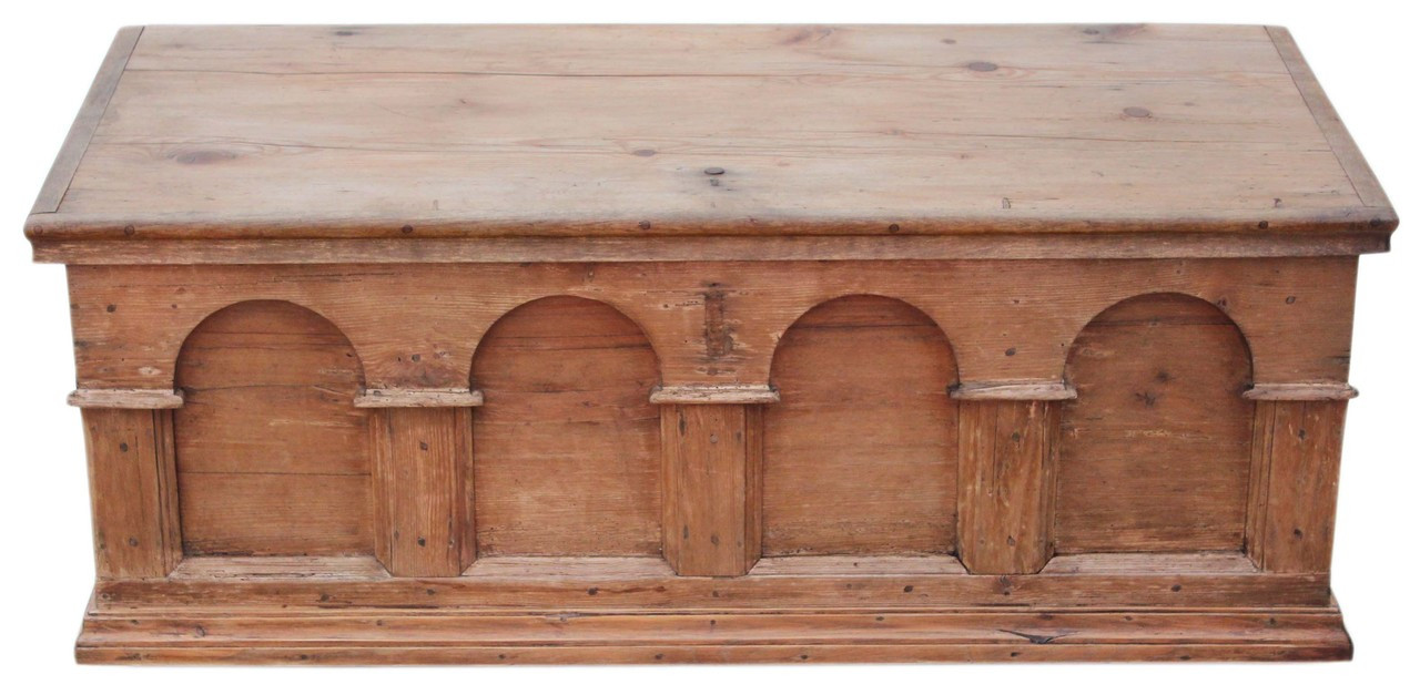 Awe Inspiring Antique Georgian 18C Pine Mule Chest Coffer Ottoman Log Pdpeps Interior Chair Design Pdpepsorg