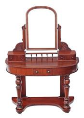 Antique small Victorian 19C mahogany Duchess dressing table