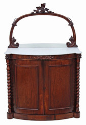 Antique small quality Victorian rosewood credenza chiffonier sideboard