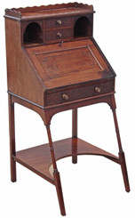 Antique quality Edwardian mahogany ladies writing desk table bureau