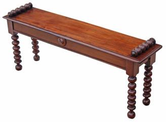 Antique rare quality Victorian 19C mahogany window seat stool chair