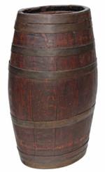 Antique coopered oak elliptical oval hall stick or umbrella stand