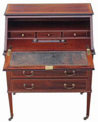 Antique quality Edwardian mahogany Maple and Co. bureau