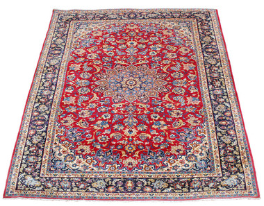 "Antique very large quality Persian hand woven wool rug ~ 13'6""' x 10'"