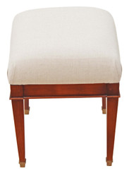 Antique reproduction walnut dressing table stool