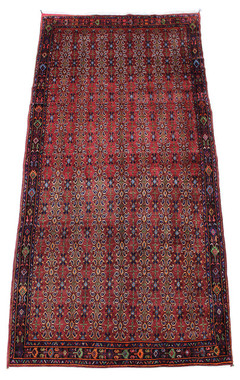 Antique large quality Persian Quashgai hand woven wool rug ~ 5' x 12' 8""