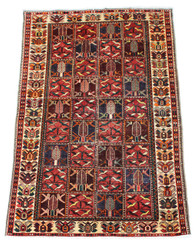 Antique large Persian Hamadan hand woven wool rug ~ 5' x 9'6""