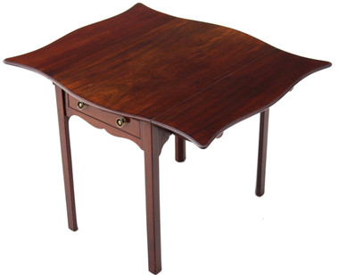Antique 19C Georgian mahogany butterfly pembroke table side occasional