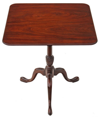 Antique quality Georgian style mahogany tilt top supper occasional table