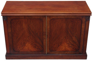 Antique large William IV flame mahogany sideboard chiffonier cupboard