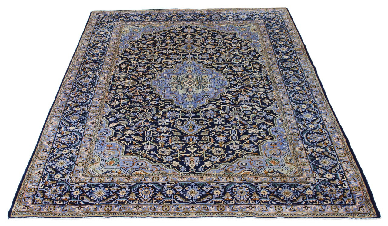 Antique Very Large Quality Persian Hand Woven Wool Rug Blue