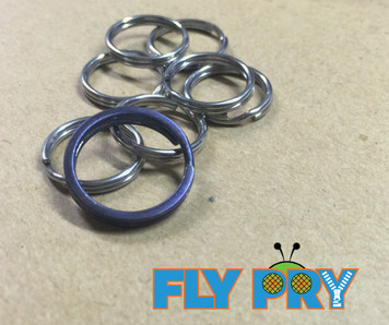 18mm Blue Anodized Flat Split Ring