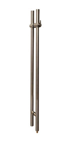 "Pro-Line Series: 48"" Locking Ladder Pull Handle - Back-to-Back, Brushed Satin US32D/630 Finish, 316 Exterior Grade Stainless Steel Alloy"