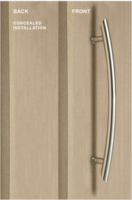 "18"" Arch Shape Ladder Style One Sided Ladder Pull Handle with with Concealed Surface Mounts (Brushed Satin Stainless Steel Finish)"