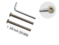 "Standard M8 x 50mm Screws, 2 pack, Stainless Steel, Suitable for 1/4"" up to 3/4"" thick door"