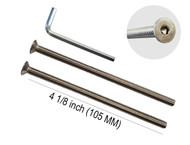 "Standard M8 x 120mm Screws, 2 pack, Stainless Steel, Suitable for 2-3/4"" up to 3-1/4"" thick door"