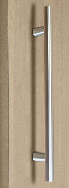 Pro-Line Series: One Sided Ladder Pull Handle, Brushed Satin US32D/630 Finish, 304 Grade Stainless Steel Alloy