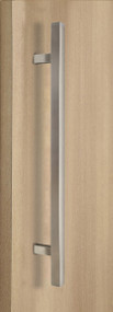 "One Sided 1"" x 1"" Square Ladder Pull Handle, Brushed Satin US32D/630 Finish, 304 Grade Stainless Steel Alloy"