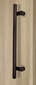 Pro-Line Series: Pro-Line Series: PostMount Offset Pull Handle - Back-to-Back, Matte Bronze Powder Coated Finish, 316 Exterior Grade Stainless Steel Alloy - Back-to-Back, Matte Bronze Powder Coated Finish, 316 Exterior Grade Stainless Steel Alloy