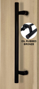 Pro-Line Series: Pro-Line Series: PostMount Offset Pull Handle - Back-to-Back, Oil Rubbed Bronze Finish, 316 Exterior Grade Stainless Steel Alloy - Back-to-Back, Matte Bronze Powder Coated Finish, 316 Exterior Grade Stainless Steel Alloy