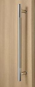 Ladder Pull Handle - Back-to-Back (Brushed Satin Stainless Steel Grip / Polished Ends)