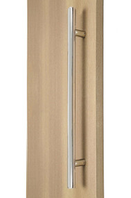 "48"" Ladder Pull Handle, 39"" center-to-center, 1"" tube diameter, Back-to-Back (Polished Stainless Steel Finish)"
