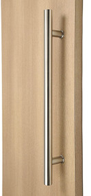 Extra Length Ladder Style Back-to-Back Push-Pull Door Handle (Brushed Satin Stainless Steel Finish)