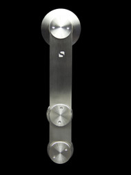 Grand-GF Barn Door Roller - Brushed Satin Finish