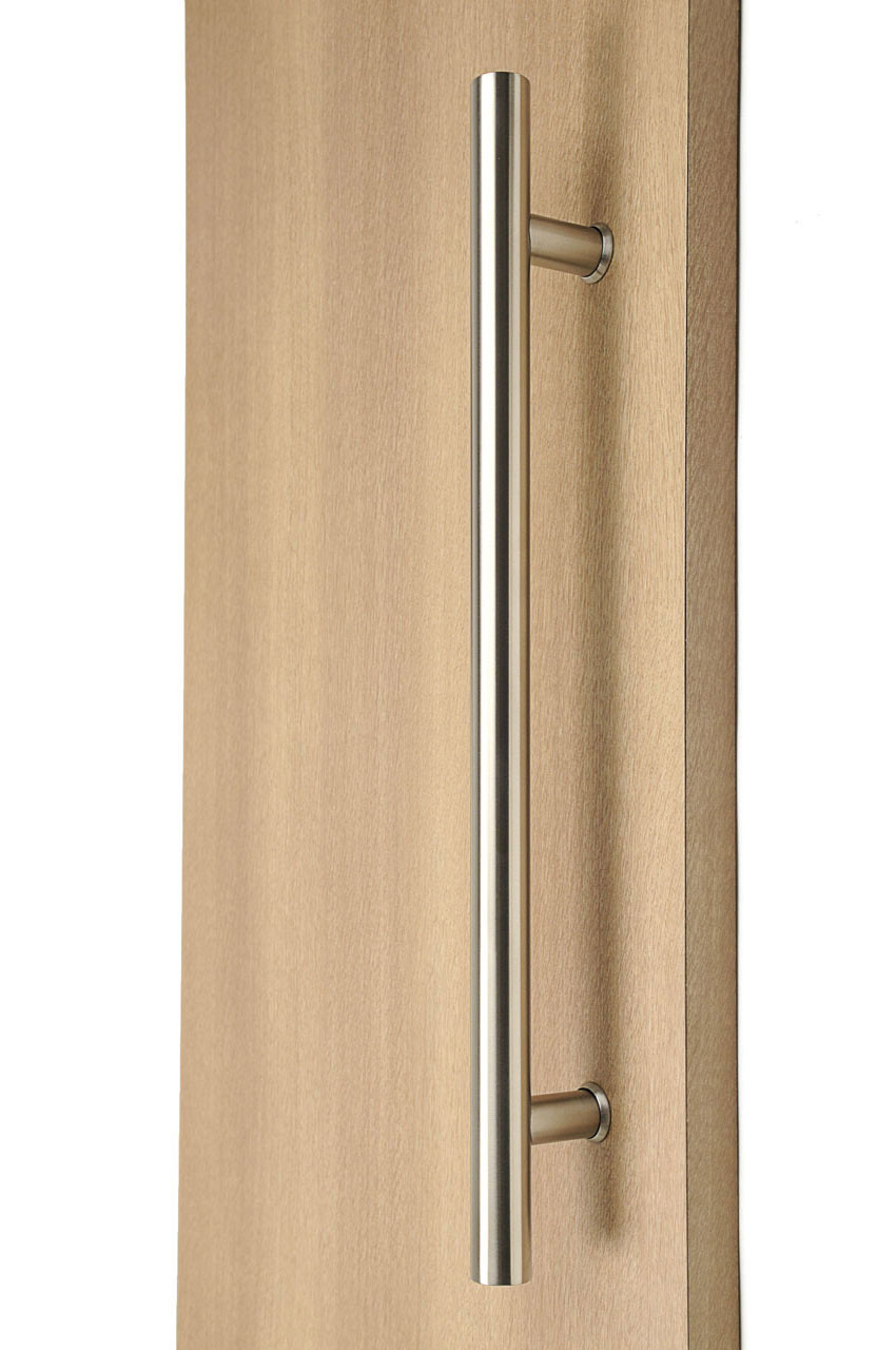 ladder pull handle back to back (brushed satin stainless steel finish)