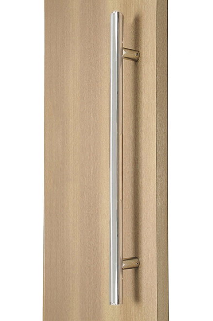 ladder pull handle back to back (polished stainless steel finish)