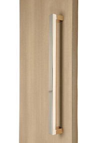 """1.5"""" x 1"""" Rectangular Pull Handle - Back-to-Back (Polished Stainless Steel Finish)"""