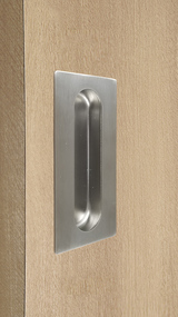 Rectangular Flush Pull with Concealed Fixing for Wood doors (Brushed Satin Stainless Steel Finish)