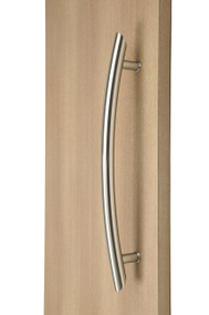Arch Ladder Pull Handle - Back-to-Back (Brushed Satin Stainless Steel Finish)