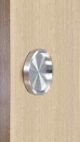 "Round Handle Back-to-Back - 2.5"" Diameter - For Wood and Glass Doors (Brushed Satin Stainless Steel Finish)"
