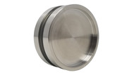 "Back View Round Handle Back-to-Back - 2.5"" Diameter - For Wood and Glass Doors (Brushed Satin Stainless Steel Finish)"
