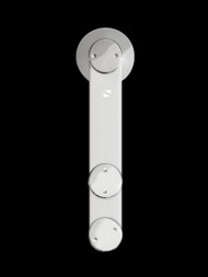 Grand-GF Barn Door Roller - Polished Chrome Finish
