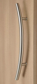 C-Shaped Offset Ladder Pull Handle - Back-to-Back (Multiple Finishes)