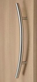 C-Shaped Offset Ladder Pull Handle - Back-to-Back (Multiple Finishes)