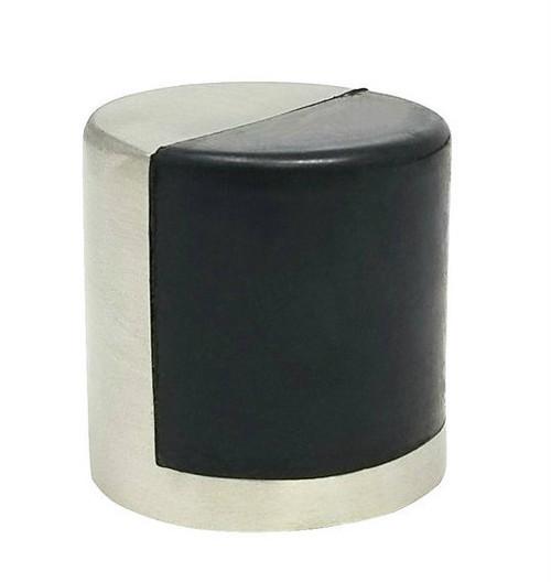Cylindrical Dome Floor Mount Door Stop 02, Brushed Satin Stainless Steel