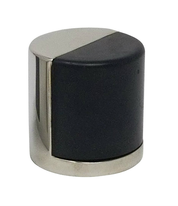 Cylindrical Dome Floor Mount Door Stop 02 Polished Stainless