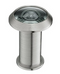 "Top View 200˚ Glass Lens Door Viewer with Cover For Doors 1-3/8"" to 2-1/4"" - Satin Nickel"